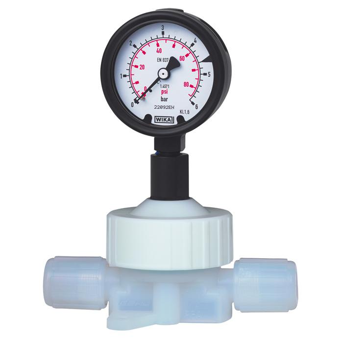 Манометр для измерения давления особо чистых сред