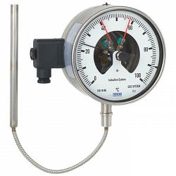 Манометрический термометр с электроконтактами
