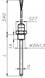 3.2. Термометры из платины технические Тпт-2 из меди Тмт-2