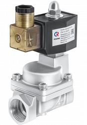 Клапаны электромагнитные (соленоидные), непрямого действия с поршнем