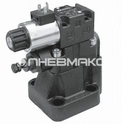 Клапан предохранительный с электрическим управлением с разгрузкой и выбором давления Rqm*-p