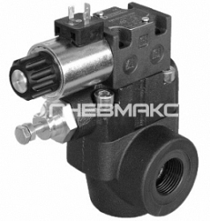 Клапан предохранительный с электрическим управлением с разгрузкой и выбором давления Rqm*-w
