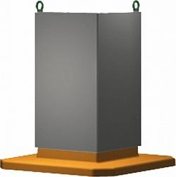 01852 Опорная стойка, куб серый чугун