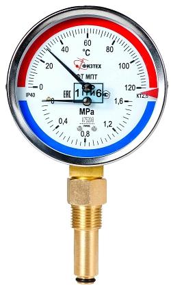 Термоманометры Мпт d.100
