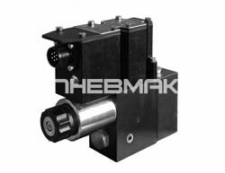 Клапан редукционный с пилотным пропорциональным электронным управлением и интегрированным электронным блоком Cetop 03 Pze3g
