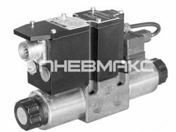 Клапан редукционный с пилотным пропорциональным электронным управлением и интегрированным электронным блоком Cetop 03 Zde3g
